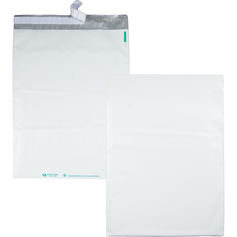 quality park white poly mailing envelopes mac papers inc