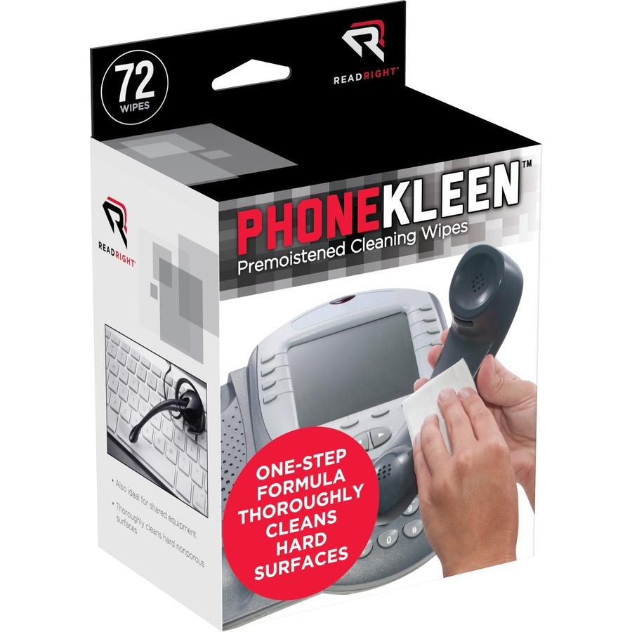 Read Right PhoneKleen Antibacterial Wipes REARR1303