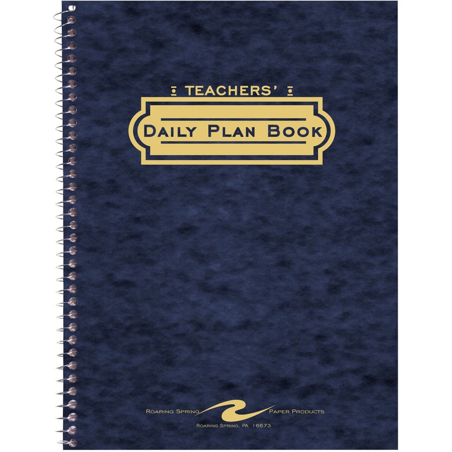 roaring spring teacher s daily planners icc business products
