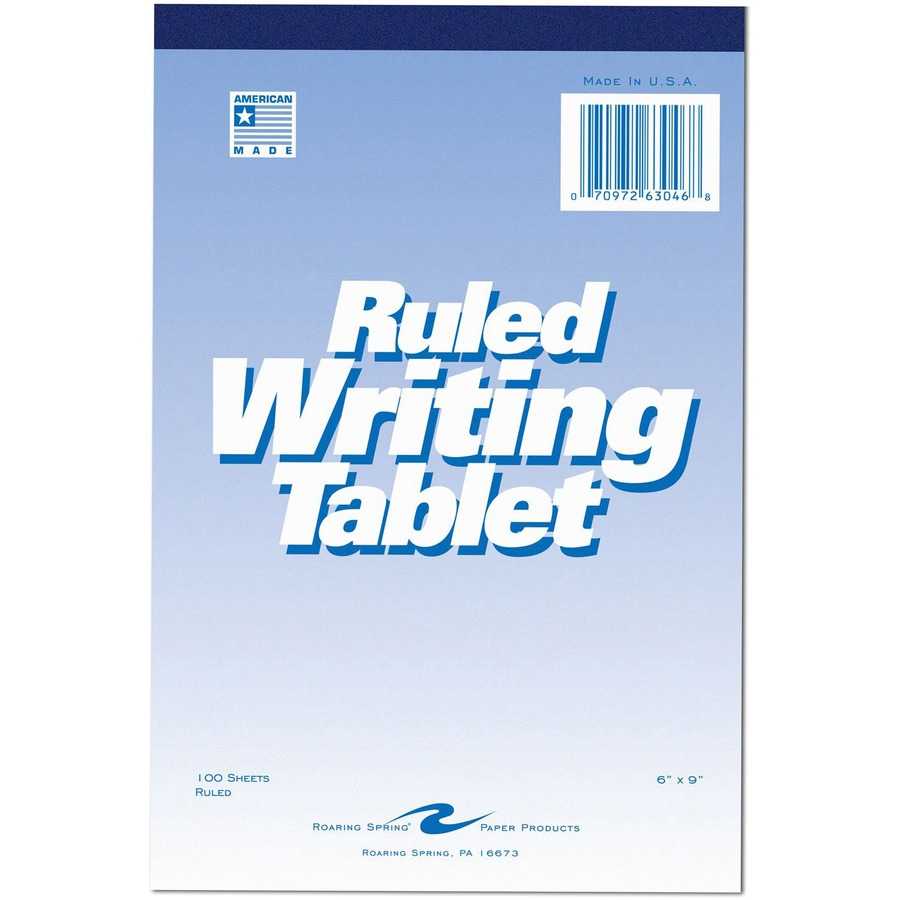 Roaring Spring Ruled Writing Tablets