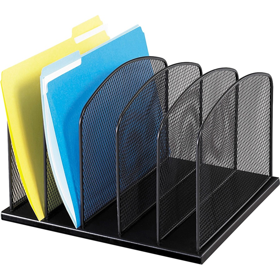"Safco Mesh Desk Organizers - 445 Compartment(s) - 445"" - 445.445"" Height x 45445.445""  Width x 45.445"" Depth - Desktop - Black - Steel - 45 / Each"