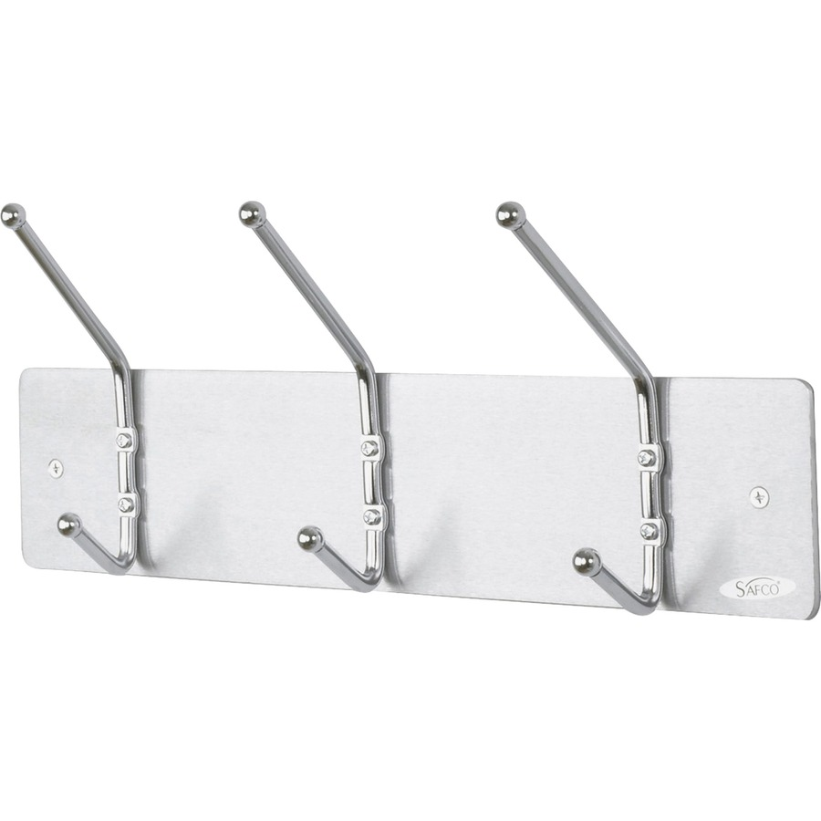 Safco 3 hook contemporary steel coat hooks for Contemporary coat hooks