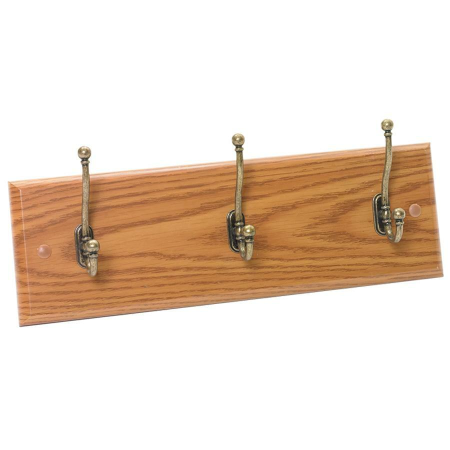 Safco 3-Hook Wood Wall Rack