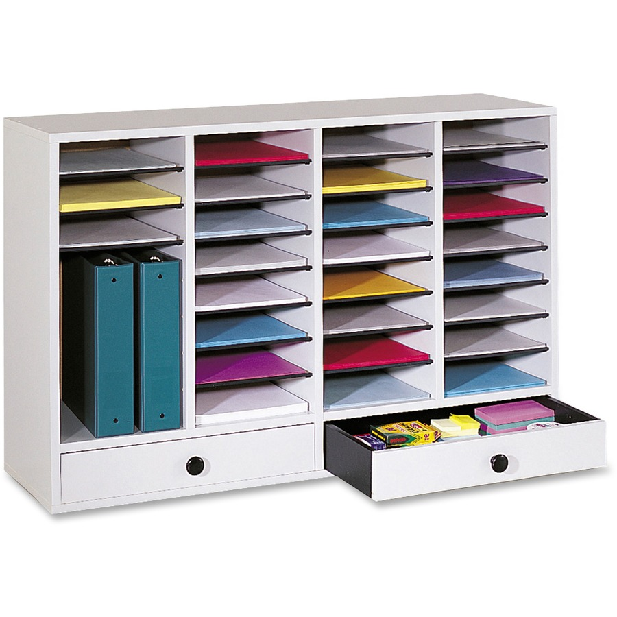 Safco Adjustable Compartment Literature Organizers SAF9494GR