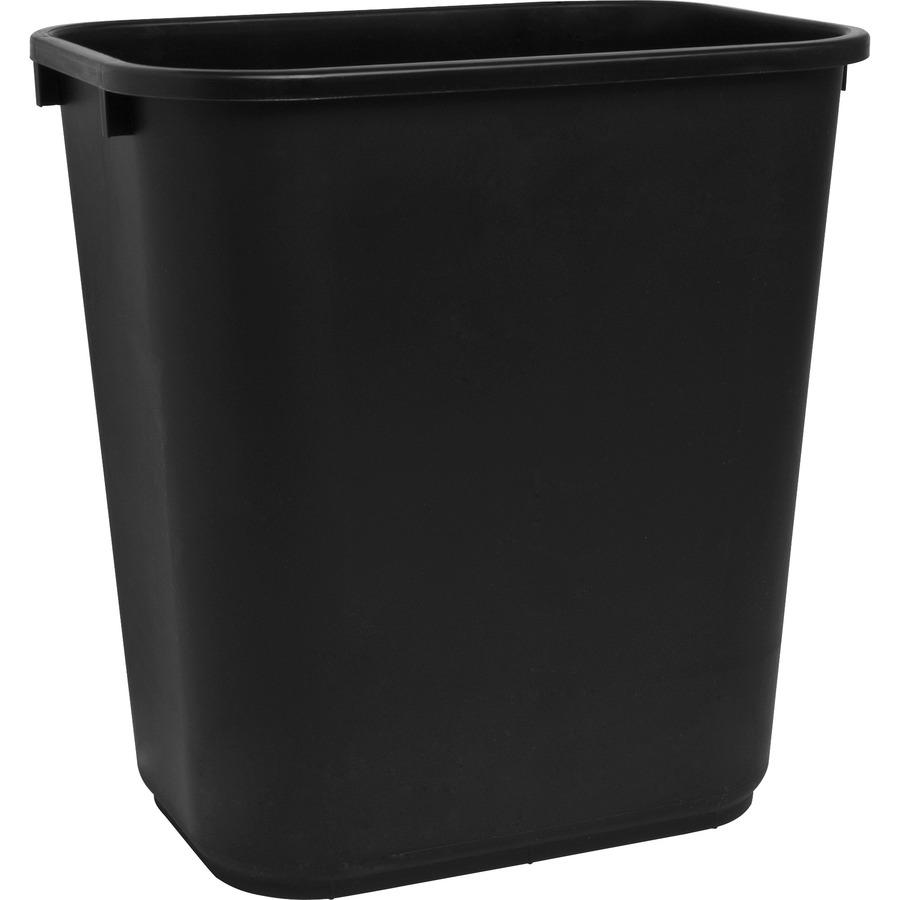 Sparco Rectangular Wastebasket - 7 gal Capacity - Rectangular - 15