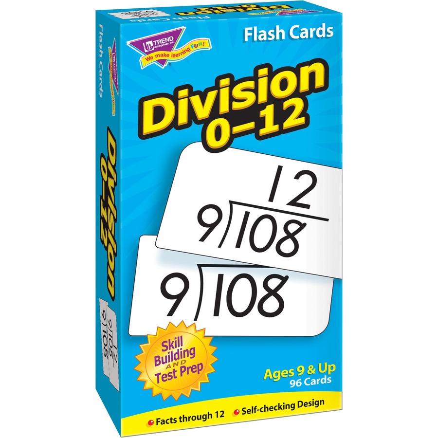 online division flash cards