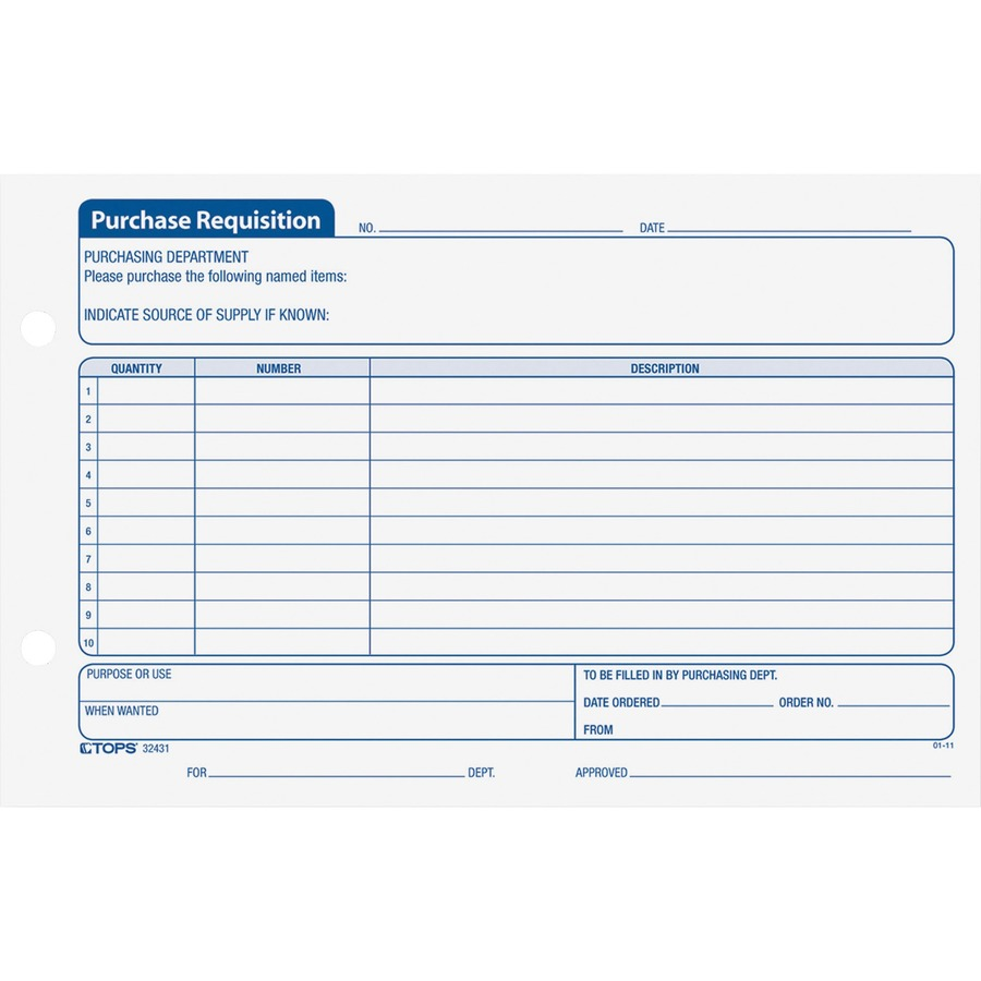 Wholesale Prices On Tops Purchase Requisitions Forms