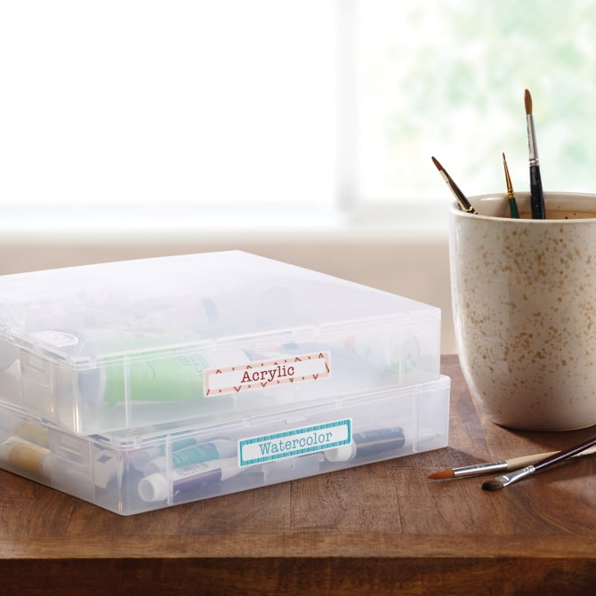 Avery® TrueBlock® File Folder Labels, Sure Feed™ Technology, Permanent Adhesive, White, 2/3
