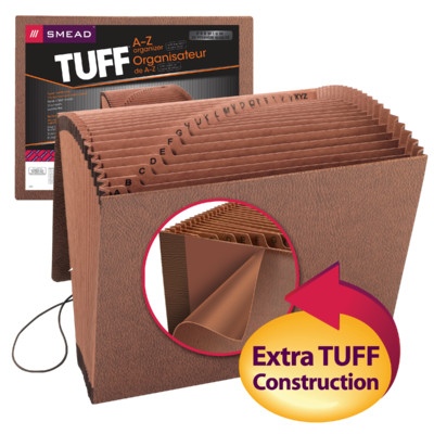"""0.87/"""" Expansion Smead 70415 Leather-like Tuff Expanding Files 6/"""" X 11.50/"""""""