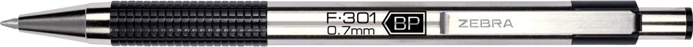 F-301® Retractable Ballpoint 0.7mm Black Dozen