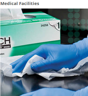 These medical wipers are ideal for wiping up surfaces in medical offices.