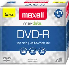 DVD-R 4.7GB DISC 5PK JEWELCASE