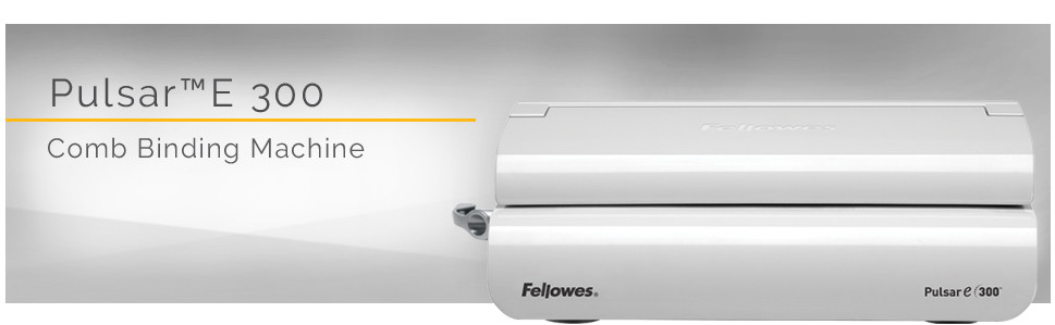 Fellowes Pulsar E 300 Electric Comb Binding Machine FEL5216701