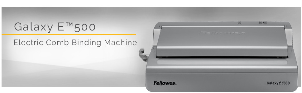 Fellowes Galaxy-E™ 500 Electric Comb Binding Machine w/ Starter Kit -  CombBind - 500 Sheet(s) Bind - 28 Punch - Letter - 6 5