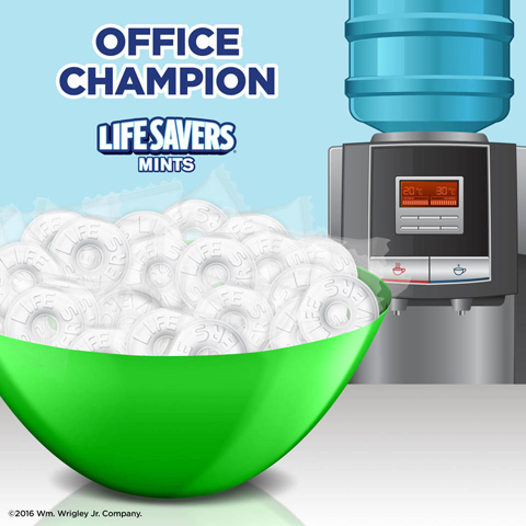 <b>And Some to Share</b></br>Be the champion of your office by sharing your bag of mints with your coworkers.