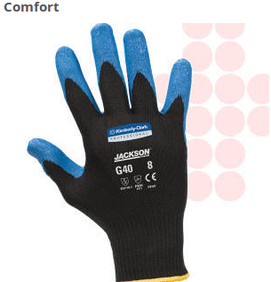 Jackson Safety G40 Foam Nitrile Coated Protective Gloves feature a seamless knit nylon back for comfort. They are flexible and easy to wear.