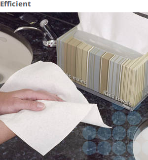 Hand Drying Thick, ultra-soft hand paper towels are made of virgin fibers for absorbency. When unfolded each disposable towel is a generous 9 x 10.5 inches - large enough for effective hand drying.
