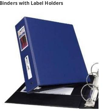 Features a sturdy label holder on the spine that allows for easy referencing when on a shelf.