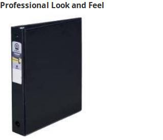 Sturdy binder for light use that gives a professional look at a lower price.
