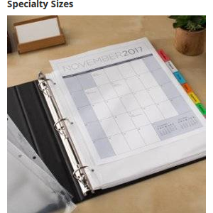 Find the perfect fit with extra-wide dividers that extend beyond sheet protectors, as well as legal size.