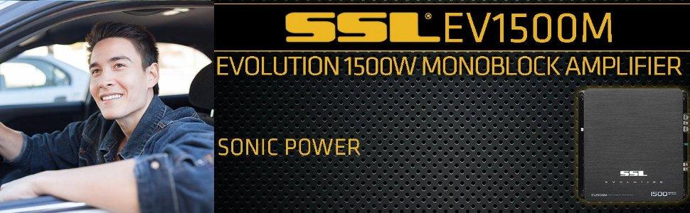 NEW SOUNDSTORM SSL EV1500M 1500W CLASS AB MONO CAR AUDIO