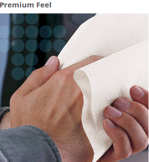 These Kleenex Premiere Center Pull Bulk Paper Towels have a really soft feel – like a cloth hand towel. Your restroom guests will appreciate the upgrade!