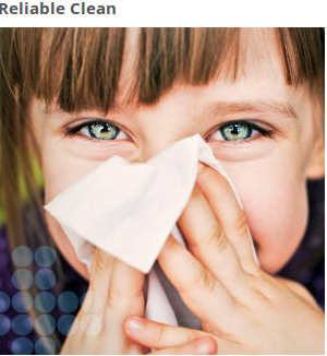 Designed for wiping and cleaning your nose, face and skin to help prevent the spread of germs. It's especially key to have tissues available during cold and flu season.