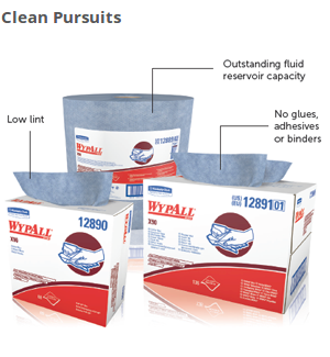 Because WypAll X90 Cloth Wipers are low in lint and contain no glues, adhesives or binders, they are an excellent choice for clean wiping jobs. Plus, the Denim Blue color won't run, because no dyes are used in production.