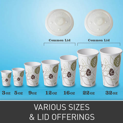 Available in 3-, 5-, 9-, 12-, 16-, 21-, 32-ounce sizes with two easy-to-use lid options. WiseSize case options available that provide space saving, smaller case sizes.