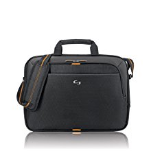 <b>   Solo Urban 15.6 inches Slim Brief </b></br>     This slim brief holds a laptop up to 15.6 inches and is designed for the dual device professional. Padded carry handles, an adjustable shoulder strap and rear Ride Along strap (to consolidate with your roller bag) make this an awesome option when you're on the go.
