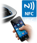 <center><b>Near Field Communication (NFC) Pairing</b></center><br></br>Touch an NFC-enabled mobile device over the base console to instantly pair and enjoy professional speakerphone audio quality.