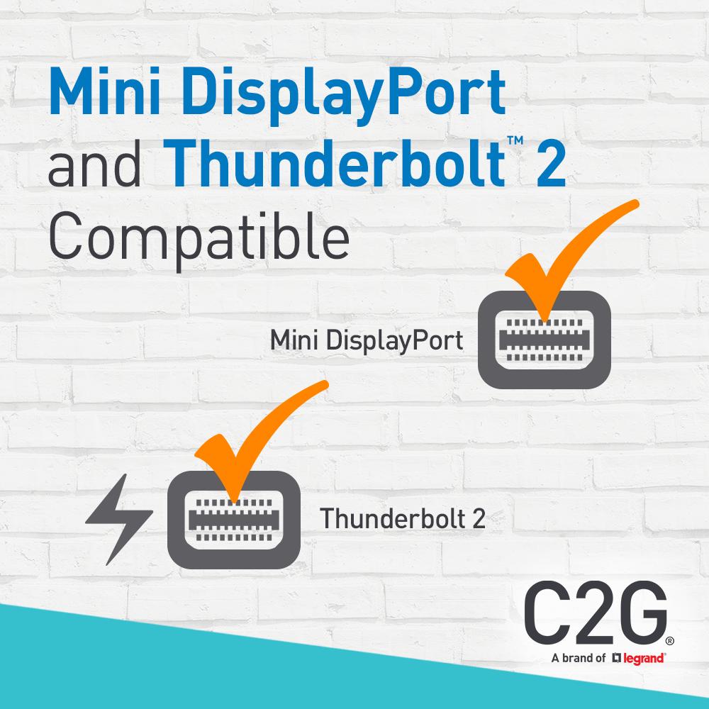 C2G 8in Mini DisplayPort to HDMI Adapter-Thunderbolt to HDMI Converter-Black