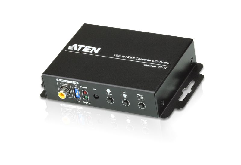 </br>VGA/Audio to HDMI Converter with Scaler