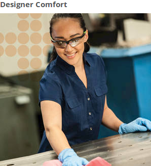 With soft touch temples, you and your employees won't mind wearing these safety glasses for hours on end. The frames have a cool, stylish look.