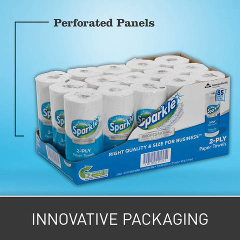 The unique perforated panels make the carton EZ to Open. These smaller sized, color-coded cartons are EZ to Find, Carry, Store, Track and Budget compared to larger cartons.