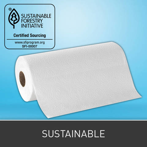 Manufactured at Georgia-Pacific Professional mills that received Processed Chlorine Free Certification. Meets the requirements of the Sustainable Forestry Initiative chain of custody standard: 100% SFI Certified Sourcing.