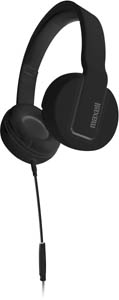 S2-HP SOLID FULL CUP HEADPHONE WITH MIC - BLACK