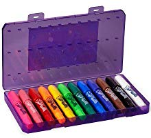 <b> Handy Storage Case </b></br>  The sturdy storage case keeps all your crayons organized for less searching and more coloring!