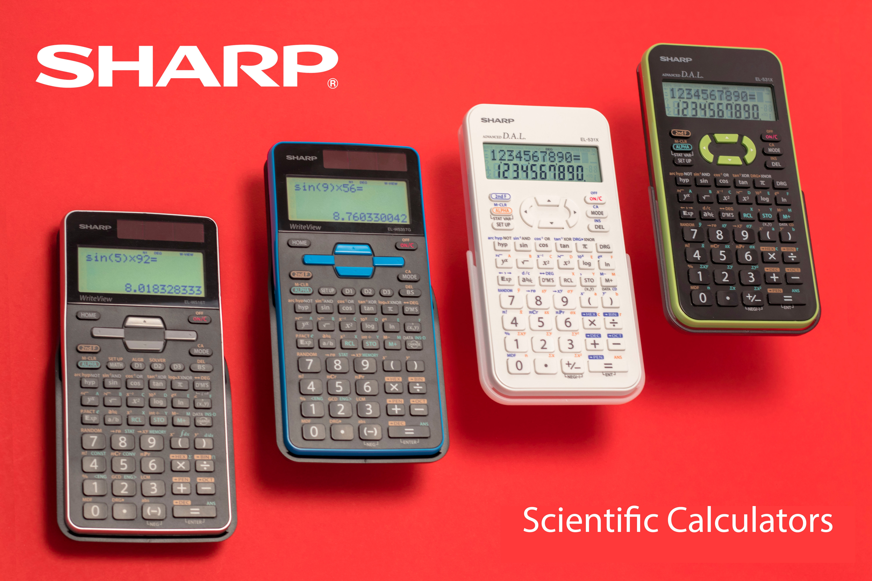 Sharp EL-W516TBSL Advanced Scientific Calculator with WriteView 4 Line Display /& Solar Power