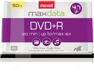 DVD+R 4.7GB DISC 50PK SPINDLE