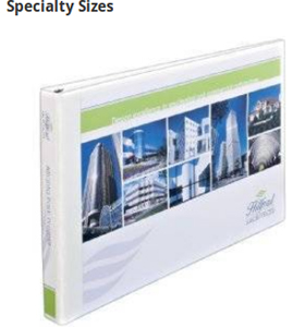 Keep tabloid-size pages secure in 11 x 17 inch binders, or completely cover sheet protectors and dividers with extra-wide binders.
