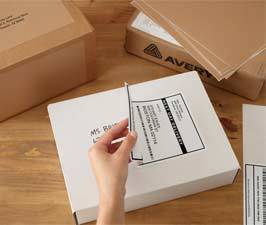 Avery White Shipping Labels with TrueBlock