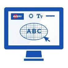 <b>1. Design</b></br> Just enter your product number at avery.com/print. Choose a blank or pre-designed template and the number of sets you need. You can easily add different images and content on each tab on the right or left side.