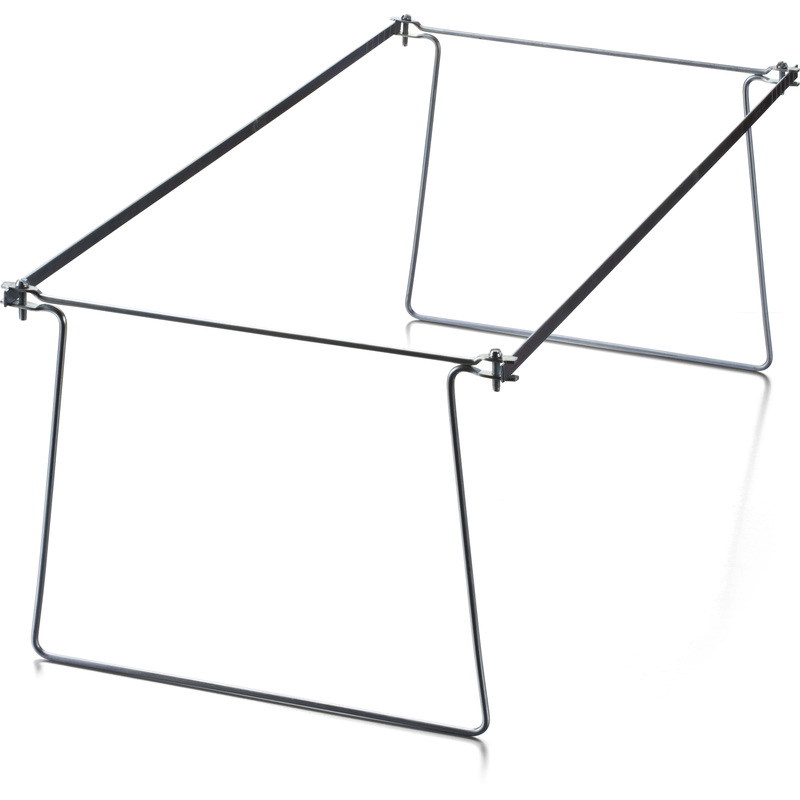 Holds legal size hanging file folders securely in drawer