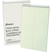 """Steno Book, 15 lb., Gregg Ruled, 80 Sheets, 6""""x9"""", GN Tint"""