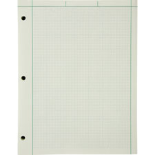 """Engineer Pads,Ruled 5x5 Sq/Inch,100 Shts/Pad,8-1/2""""x11"""",GN"""