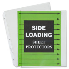 """Side-Loading Sheet Protectors, 8-1/2""""x11"""", 50/BX, Clear"""