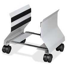 "Mobile CPU Stand,4 Casters,Adjustable 6""-9"",8""x9""x9-1/2"",PM"