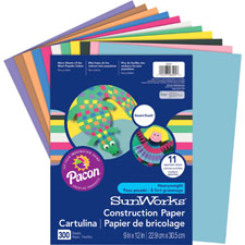 """Construction Paper, 12""""x18"""", 150/PK, Assorted"""