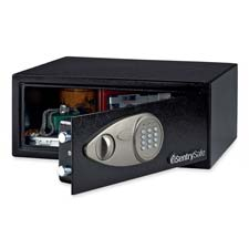 "Security Safe,w/Electronic Lock,16-9/10""x14-3/5""x7-1/10"",BLK"